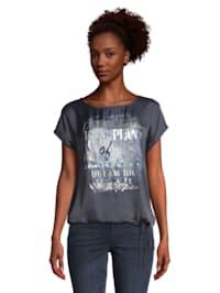 Basic Shirt mit Placement