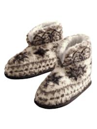 Chaussons en laine vierge