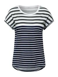 T-Shirt mit Streifen Mix