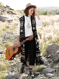 Mouwloos vest in etno-stijl