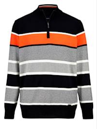 Pullover mit garngefärbtem Streifenmuster