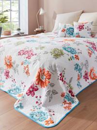 Prikrývka na posteľ Flora