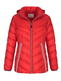 Gewatteerde jas met fraaie gestreepte details