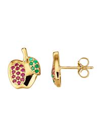Boucles d'oreilles avec pierres précieuses