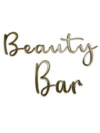 Wand-Deko, Beauty Bar
