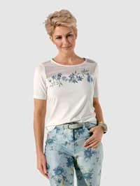 Tričko s apartnou výšivkou