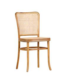 Stuhl mit Wiener Geflecht, grau
