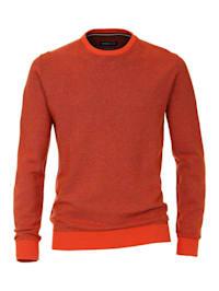 Pullover mit Rundhalsausschnitt uni