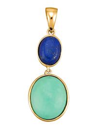 Hanger met turkoois en lapis lazuli