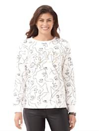 Sweatshirt mit grafischem Muster