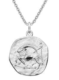 Sternzeichen Steinbock Ø 20 mm und Halskette 925 Silber