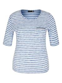 Shirt mit Glitzerdetails und Ringeln