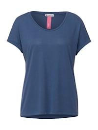 T-Shirt im Seiden Look