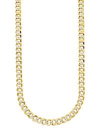 Halsband i pansarlänk av guldfärgat silver 925