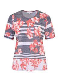 Sommerliches Shirt mit Ausbrennermuster