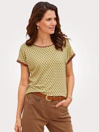 Shirt met grafische minimalprint