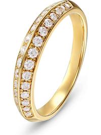 CHRIST Damen-Damenring 585er Gelbgold 30 Diamant