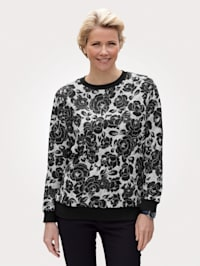 Sweatshirt mit floralem Druckmuster