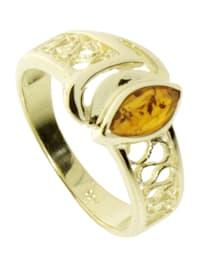 Ring - Anisia - Gold 333/000 - Bernstein