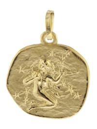 Sternzeichen-Anhänger Jungfrau 585 Gold 16 mm