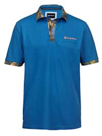 Poloshirt met contrastkleurige print