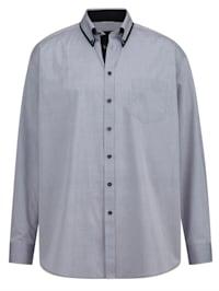 Skjorta Specialskärning – perfekt för män med mage