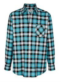 Overhemd met ingeweven ruitpatroon