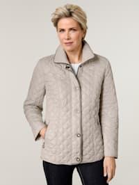 Gewatteerde jas met stiksels