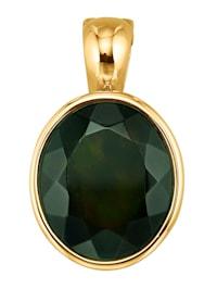 Pendentif avec opale noire