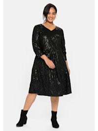 Kleid mit tonalem Animal-Print, mit langem Arm