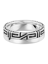Ring 925/- Sterling Silber ohne Stein oxydiert 925/- Sterling Silber