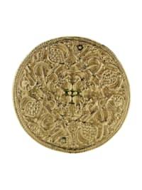 Brosche - Hiddensee 42 mm rund - Silber 925/000, vergoldet - ,