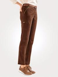 Bukse med glansgarn