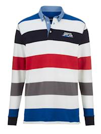 Sweatshirt med denimkontraster