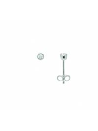 Damen Silberschmuck 925 Silber Ohrringe / Ohrstecker mit Zirkonia Ø 3 mm