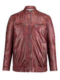 Veste en cuir au look usé tendance