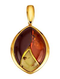Pendentif avec 3 pierres d'ambre