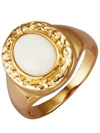 Naisten opaalisormus 585-kultaa