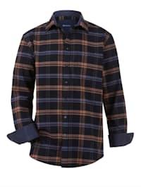 Chemise en flanelle à 1 poche poitrine