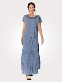 Jersey skirt in a washed finish