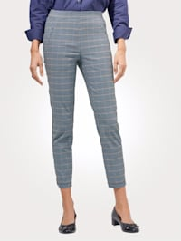 Cropped trousers in a glen check pattern