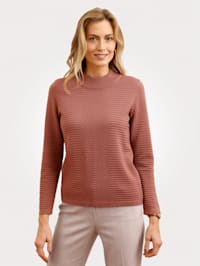 Jumper in a textured finish