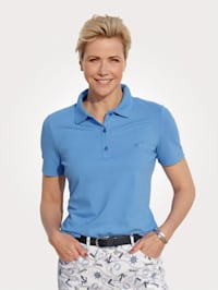 Polo shirt made from a stretch Pima cotton blend
