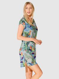 Plážové šaty s módním potiskem džungle