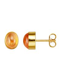 Boucles d'oreilles avec grenats mandarine