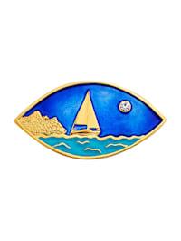 Brosch med båtmotiv