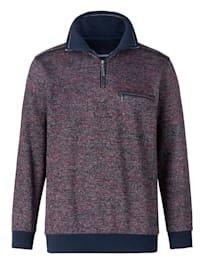 Sweatshirt in zweifarbiger Optik