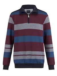 Sweatshirt med krage och dragkedja