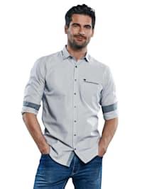 Sportives Freizeit-Hemd mit dezentem Muster