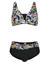 Bikini im modischen Floral-Dessin